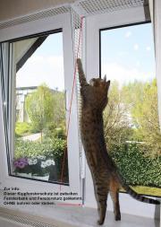 Kippfensterschutz Fensterschutzgitter Katzenschutzgitter - OHNE Bohren