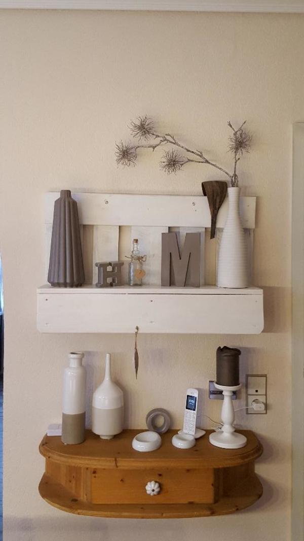 konsole h ngeregal mit schublade landhausstil fichte. Black Bedroom Furniture Sets. Home Design Ideas