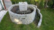 Kräuterschneckensteine mit Brunnenpumpenstein+