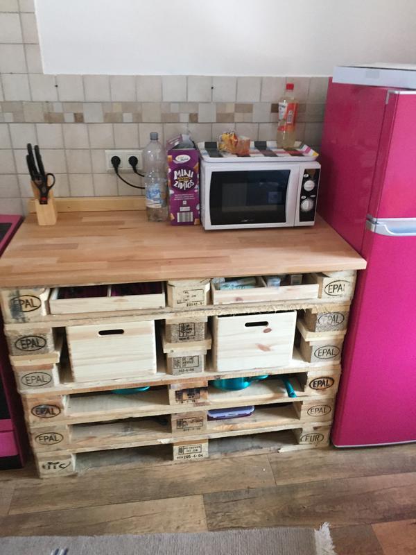 Küche aus Paletten in Plankstadt - Küchenzeilen, Anbauküchen ... | {Küche pink kaufen 33}