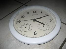 Haushaltsgeräte, Hausrat, alles Sonstige - Küchenuhr weiß mit Thermometer und