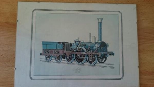 Kunstdruck Dampflok-Eisenbahn Liebhaber 8 Stück