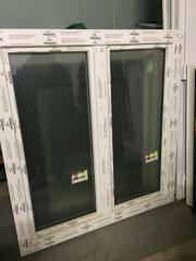 Kunststofffenster holzdekor weiß  Kunststofffenster Holzdekor, ca. 120 x 120 cm, mit Rolladen und ...