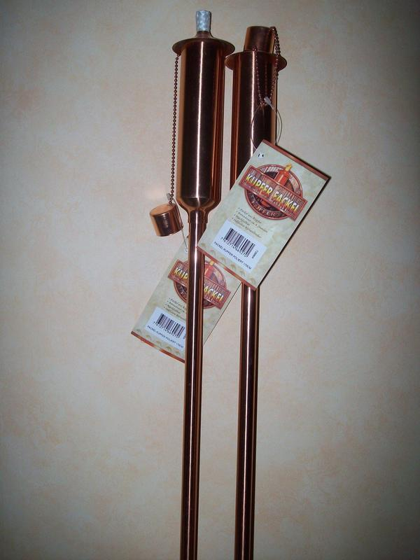 Kupfer-Fackeln 2 Stück, Designer Patio Kupfer-Fackel, 170 cm - Neuware - Groß-gerau - Garten-Fackeln 2 Stück, Designer Patio Kupfer-Fackel, 170 cm - NeuwareBiete zwei Stück Designer Patio Kupfer-Fackeln für den Garten, Terrasse...Material rein Kupfer, poliertInkl. Docht, Ersatzdocht und LöschkappeZum Betreiben mit Lampen- - Groß-gerau