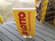 Lotto Werbeschild 2 seitiges Werbeschild