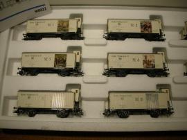 Modelleisenbahnen - Märklin 94022 Wagen-Set 12 Kunstkühlwagen