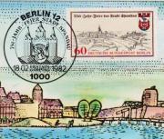 Maximumkarte Spandau 750-Jahr-Feier der Stadt
