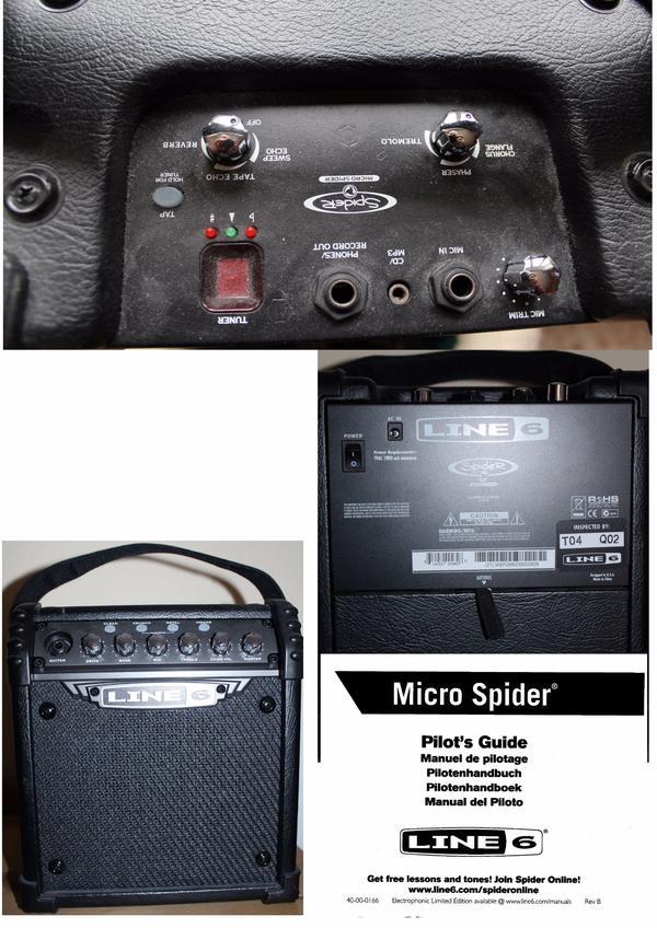 Micro Spider LINE 6 - Berlin Friedrichsfelde - Neuwertig !!!Mit dem Line6 MicroSpider Combo hat man einen feinen Übungsamp. Abstriche wurden nur in der Zahl der Verstärkermodelle und der Speicherplätze (4 Spider III Amp Models und 1 Akustik Gitarren Model, 5 Speicherplätze - Berlin Friedrichsfelde
