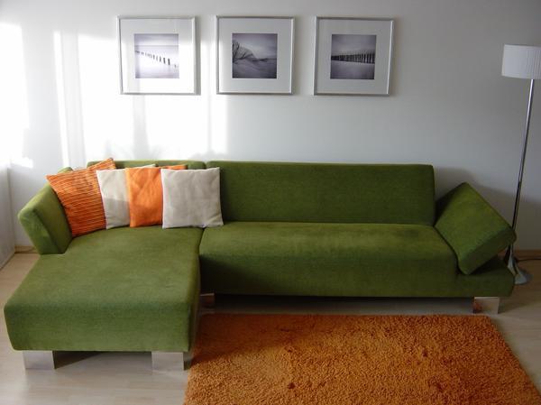Gr nes sofa neu und gebraucht kaufen bei for Markensofas
