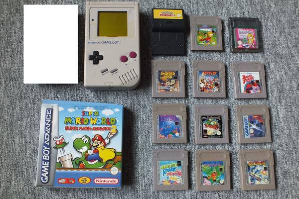 Nintendo Gameboy mit Game Boy Spielen - Reinheim - Gameboy Classic (ohne Scheibe) 25EURSuper Mario World Super Mario Advance 2 (Nur OVP, Inlay und Anleitung) 20EURPokemon Pinball 5EURTetris 5EURTetris Attack 5EURBart Simpsons - Escape From Camp Deadly 5EURBoulder Dash 5EURBases Loaded 5EURGargo - Reinheim