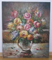 Ölbild Blumenmotiv
