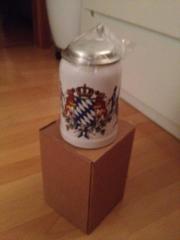Original Bayerischer Bierkrug mit Deckel