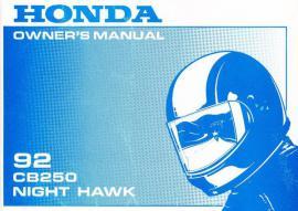 Original Betriebsanleitung Honda CB250 Nighthawk
