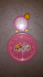 Pferde Wanduhr und