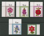Postfrische Wohlfahrts-Briefmarken BRD aus dem