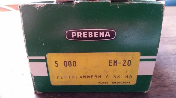 PREBENA Heftklammern EM-20