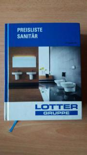 Preisliste Sanitär Lotter vom Jahre