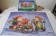 Puzzle Weihnachtsschlitten; Christmas