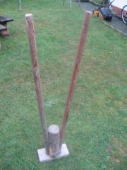 Rammbock aus Holz antiquarisch