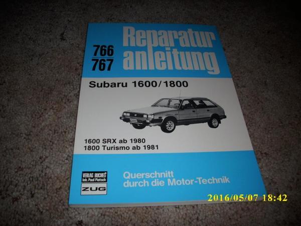 Reparaturanleitung Subaru 1600 / 1800 - Landau - Subaru 1600 / 1800, Reparaturanleitung, 1600 SRX ab 1980, 1800 Turismo ab 1981, Nr. 766 / 767, vom Verlag Bucheli, keine Gebrauchsspuren, sehr gut erhalten, mit Montagebildern, Einstelltabellen und Leitungsskizzen, 160 Seiten und Schaltpläne, (b - Landau