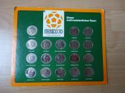 Sammelmünzen Fußball WM 1970 Mexico