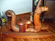 Schaukelpferd-Einhorn UNIKAT einmalig Kunsthandwerk aus