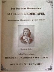 Schiller Liedertafel Chicago - Festschrift zum