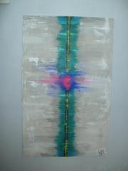 schönes Gemälde Neonexplosion