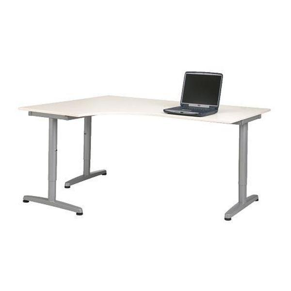 Schreibtischplatte ikea  Eckschreibtisch Weiß Ikea | hhokc.com