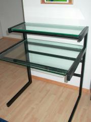 Schreibtisch Glastisch schwarz