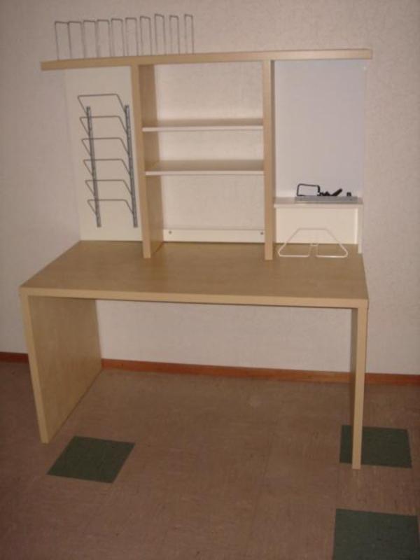Eckschreibtisch ikea mikael  Schreibtisch IKEA Mikael, Tisch, mit Regalaufsatz, Bürotisch in ...