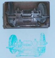 sehr alter Druckstock Stempel mit