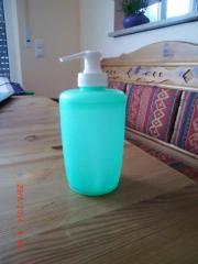 Seifenbehälter für Flüssigseife Kunststoff grün