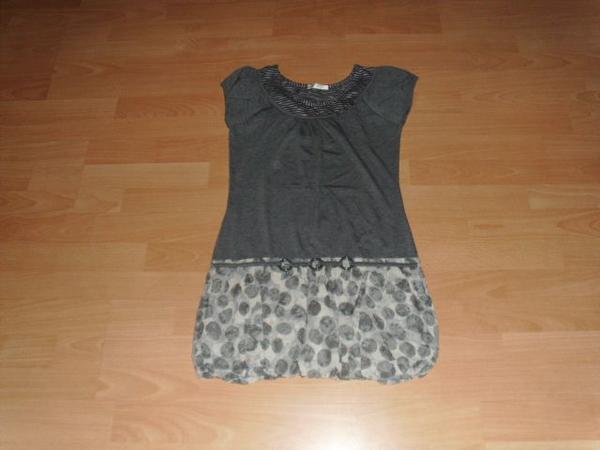Shirtkleid von Promod hellgrau Gr