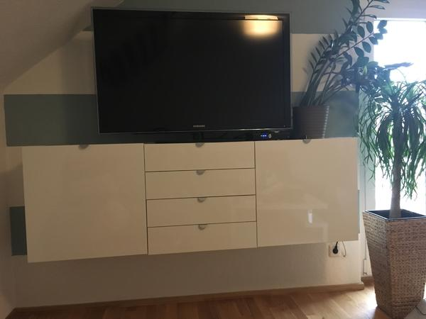 sideboard wei h ngend in lustenau phono tv videom bel kaufen und verkaufen ber private. Black Bedroom Furniture Sets. Home Design Ideas