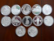 Silbermünzen Schilling und