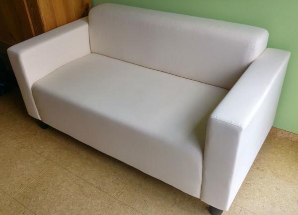 2er sofa ikea  Sofa KLOBO von IKEA, 2er-Sofa mit naturfarbenem Baumwollbezug in ...