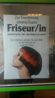 Stellenangebot als Friseur/