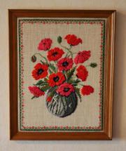 Stickbilder Blumenmotiv