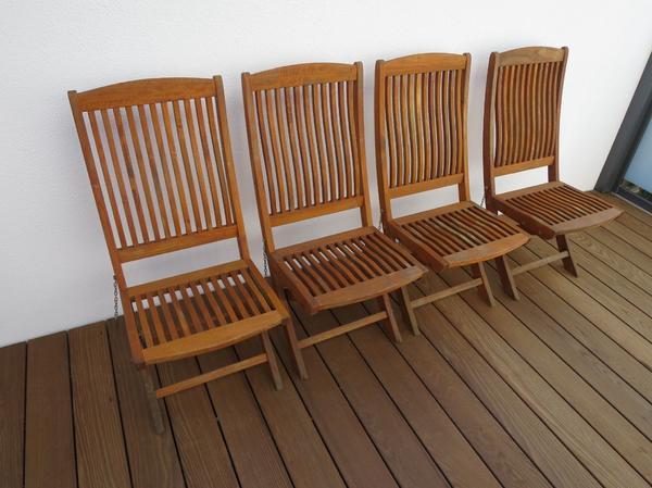 Teakholz Stuhl In München Gartenmöbel Kaufen Und Verkaufen über