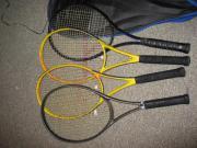 Tennisschläger mit Tasche