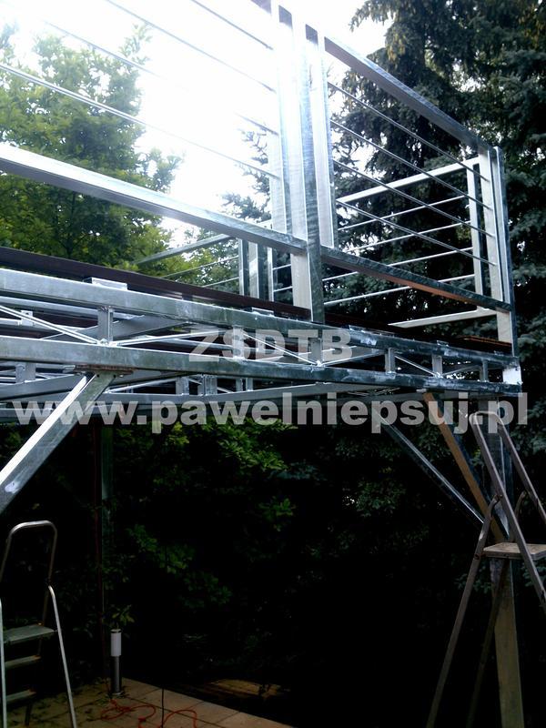 Terrasse Aus Stahl terrasse metall stahl terrasse in lodz sonstiges für den garten