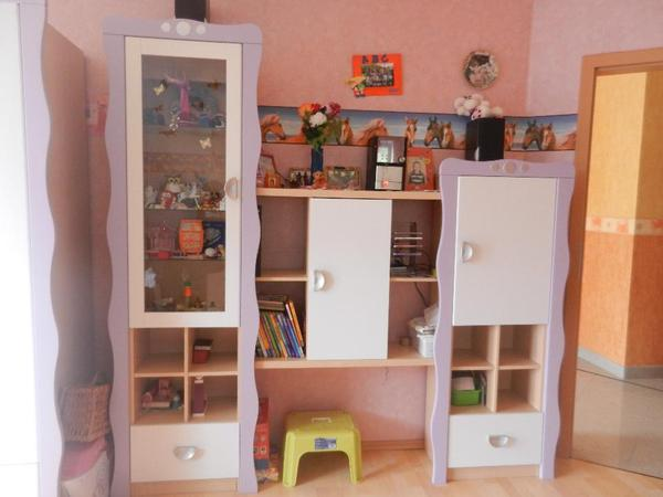 Tolles Kinderzimmer Jugendzimmer Kleiderschrank Bett Wohnwand Wie