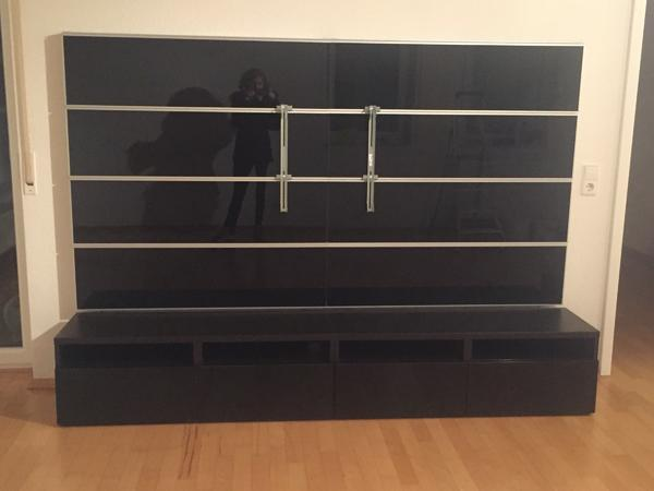 tv wand besta framsta von ikea zu verkaufen in eggenstein leopoldshafen ikea m bel kaufen. Black Bedroom Furniture Sets. Home Design Ideas
