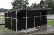 Unterstände Hütten Boxen in vielen