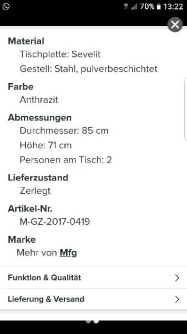 unverwüstlicher Tisch in Offenbach - Gartenmöbel kaufen und ...