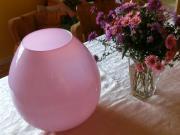 Vase opalweiß rosa ca 32cm