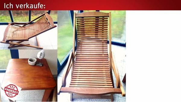 verkaufe 2 hochwertige holzliegest hle inkl sch nem holztisch in lochau gartenm bel kaufen. Black Bedroom Furniture Sets. Home Design Ideas