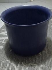 Verkaufe blauen Blumenumtopf
