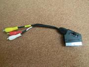 Videoadapter - Scart-Stecker auf Chinch-Buchsen